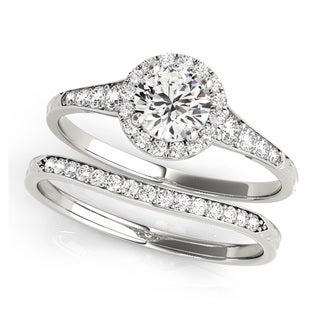 14k Gold 4/5ct TDW Halo Diamond Bridal Set (G-H, VS1-VS2)