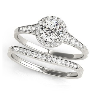 Transcendent Brilliance 14k Gold 4/5ct TDW Halo Diamond Bridal Set (G-H, VS1-VS2)