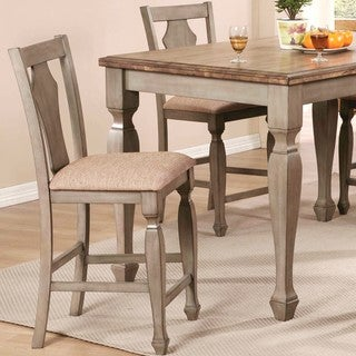 Rustic Antique Cottage Design Counter Height Dining Stools (Set of 2)