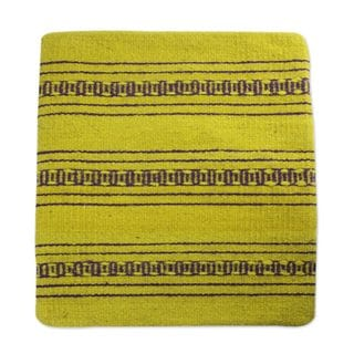 Zapotec Wool Cushion Cover, 'Zapotec Energy' (Mexico)