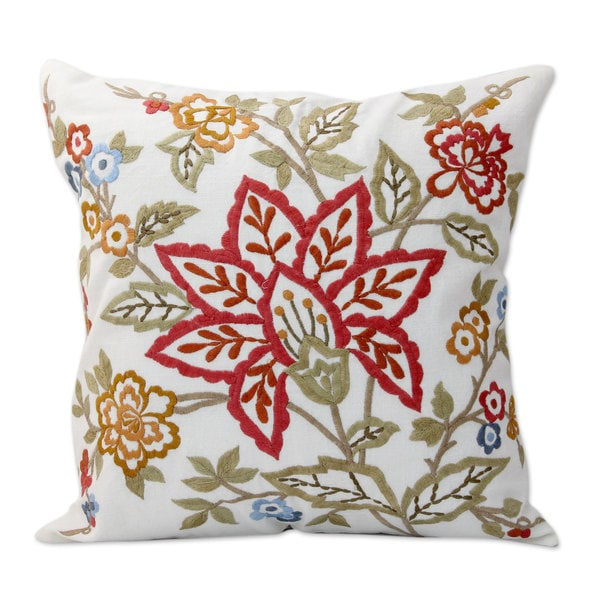 Shop Handmade Pair Of 2 Embroidered Cotton Cushion Covers Jaipur