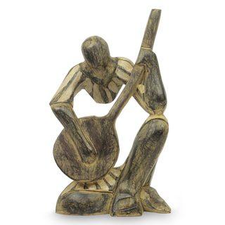 Wood Sculpture, 'Song of Love II' (Ghana)