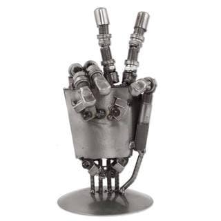 Handmade Rustic Robot Hand Auto Part Sculpture (Mexico)