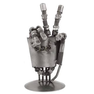 Auto Part Sculpture, 'Rustic Robot Hand' (Mexico)
