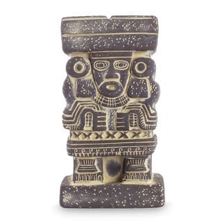 Handmade Ceramic Statuette, 'Goddess Chalchiuhtlicue' (Mexico)