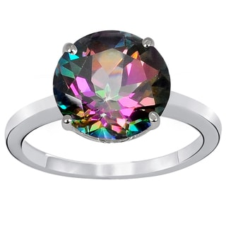 Orchid Jewelry 925 Sterling Silver 4 6/7 Carat Mystic Topaz Ring