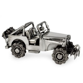 Link to Handmade Auto Part Statuette, 'Rustic Off-Road Jeep' (Mexico) Similar Items in Accent Pieces