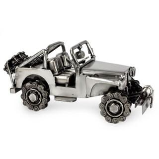 Auto Part Statuette, 'Rustic Off-Road Jeep' (Mexico)