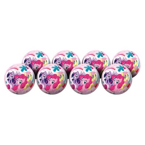 """Hedstrom My Little Pony 6-Inch Playball Party Pack (Pack of 8) - 6"""""""