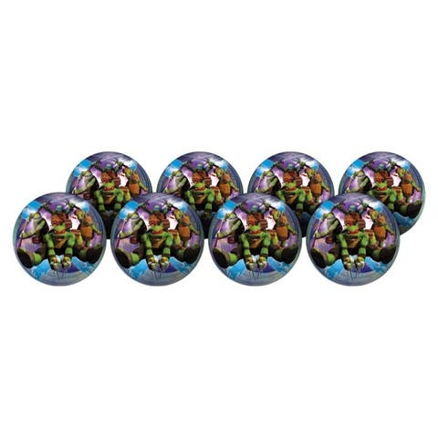 "Hedstrom Teenage Mutant Ninja Turtles 6-Inch Playball Party 8-Pack - 6"""