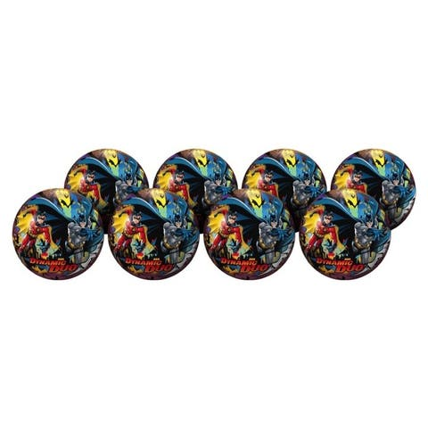 """Hedstrom Batman 9-Inch Playball Deflate Party Pack (Pack of 8) - 9"""""""