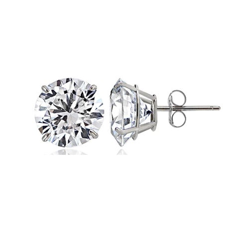 14K Gold Cubic Zirconia Stud Earrings