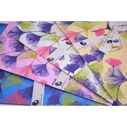 Handmade Gift Wrap with Fan Pattern (Thailand)