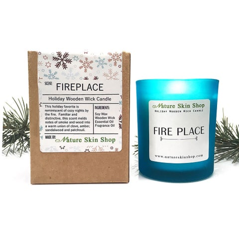 Fireplace Wooden Wick Candle