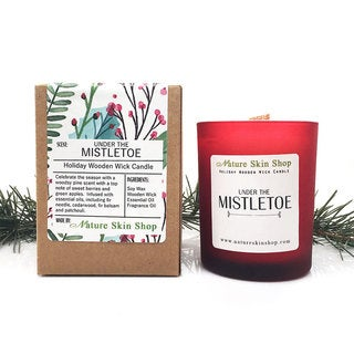 Under the Mistletoe Wood Wick Candle