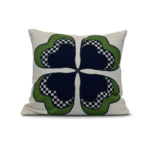 16-inch 4 Leaf Clover Holiday Floral Print Pillow