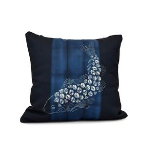 16-inch Fish Pool Animal Print Pillow