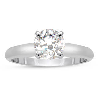 ThyDiamond 14k White Gold Eco-friendly 3/4ct Lab Grown Diamond Solitaire Ring In (J-K, SI1-SI2)
