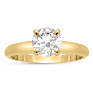 ThyDiamond 14k Yellow Gold Eco-friendly 3/4ct Lab Grown Diamond Solitaire Ring In (J-K, SI1-SI2)