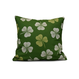 16-inch Lucky Holiday Floral Print Pillow