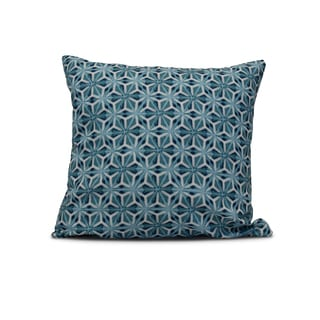 16-inch Water Mosaic Geometric Print Outdoor Pillow