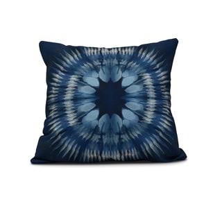 16-inch Shibori Burst Geometric Print Pillow