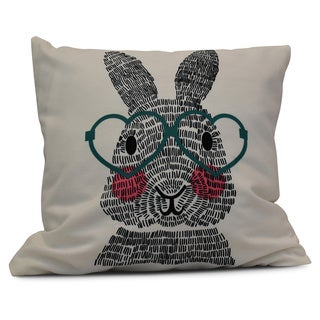 16-inch 'What's Up Bunny?' Holiday Animal Print Pillow