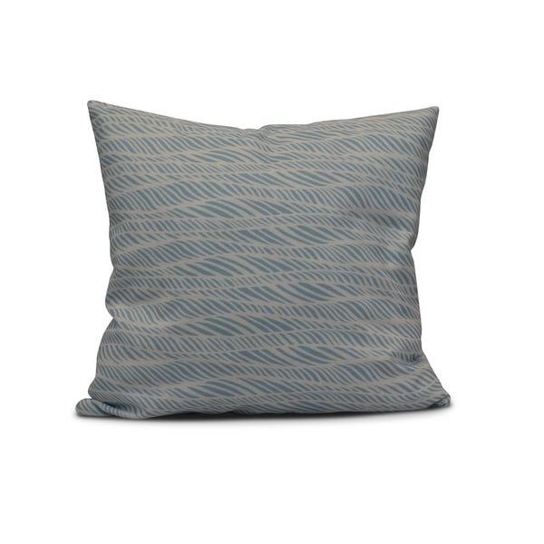 18-inch Rolling Waves Geometric Print Outdoor Pillow