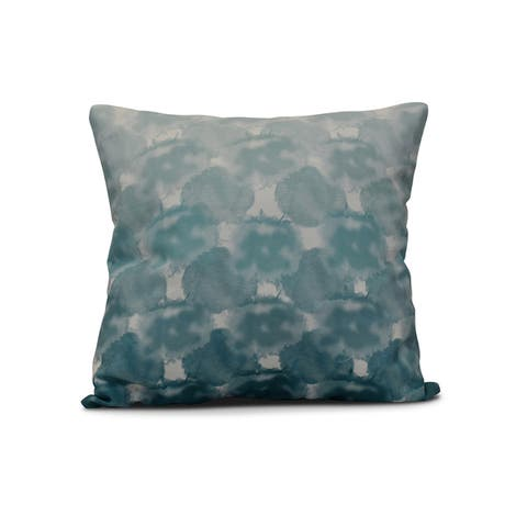 20-inch Beach Clouds Geometric Print Outdoor Pillow