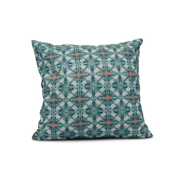 20-inch Beach Tile Geometric Print Outdoor Pillow