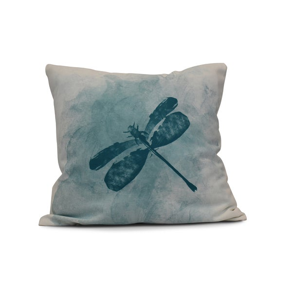20-inch Dragonfly Summer Animal Print Outdoor Pillow