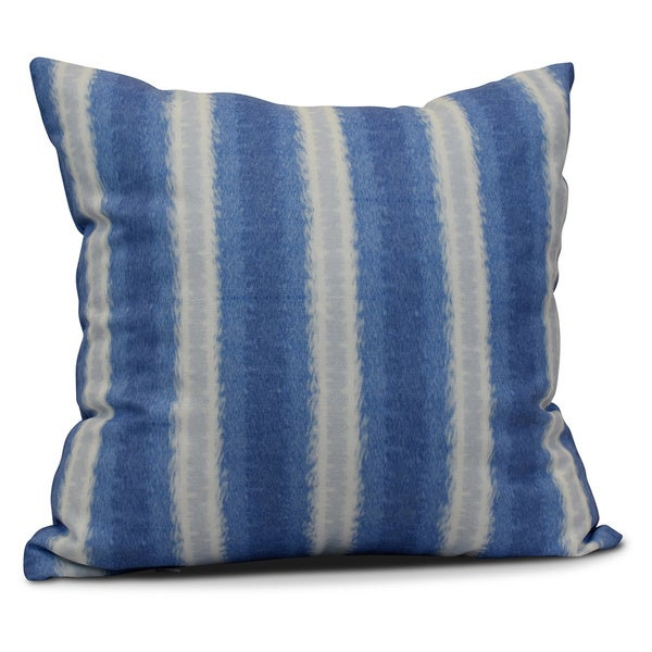 Shop 20 Inch Sea Lines Stripe Print Outdoor Pillow Free Shipping