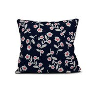 20-inch Valentines Floral Holiday Floral Print Outdoor Pillow