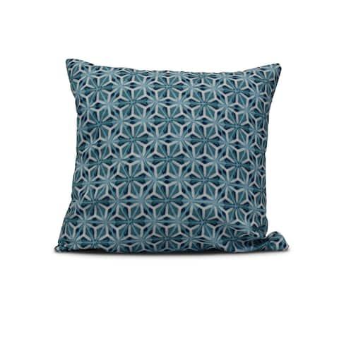 20-inch Water Mosaic Geometric Print Outdoor Pillow
