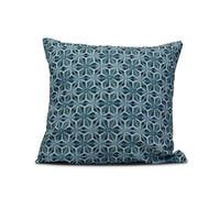 20-inch Water Mosaic Geometric Print Outdoor Pillow
