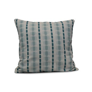 20-inch Watercolor Stripe Stripe Print Outdoor Pillow