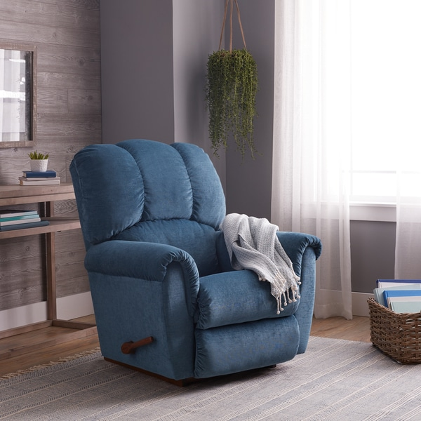 Shop La Z Boy Connor Teal Blue Recliner Free Shipping