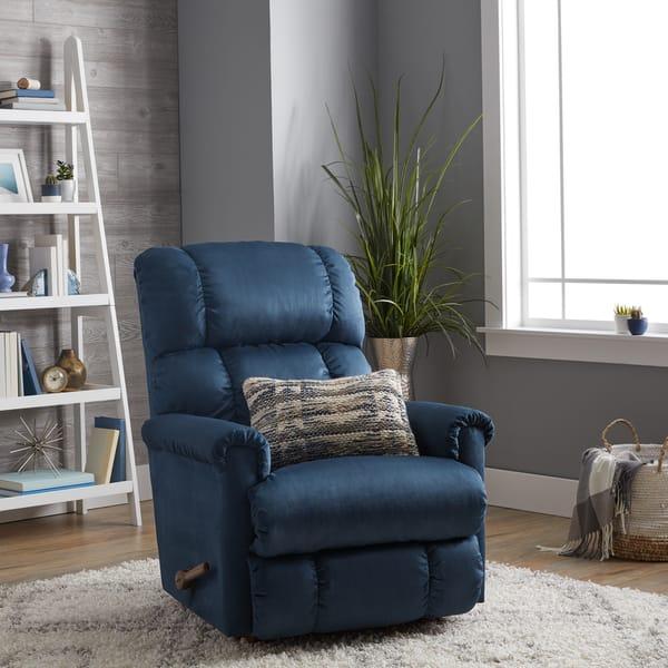 Pleasing Shop La Z Boy Pinnacle Blue Recliner Free Shipping Today Evergreenethics Interior Chair Design Evergreenethicsorg