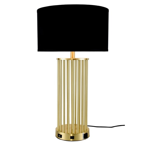 Somette Verona Collection 1-Light Brushed Brass Finish Table Lamp
