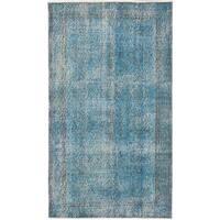 ecarpetgallery Anatolian Overdyed Blue Wool Rug