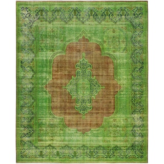 ecarpetgallery Color Transition Brown, Green Wool Rug (10'2 x 12'4)