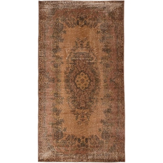 ecarpetgallery Color Transition Brown Wool Rug (3'10 x 7'1)