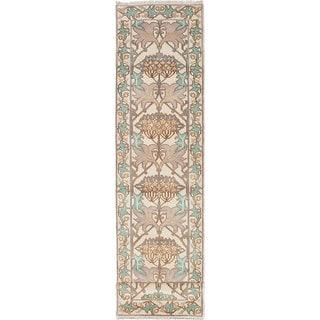 ecarpetgallery Royal Ushak Green, Yellow Wool Rug (2'7 x 11'7)