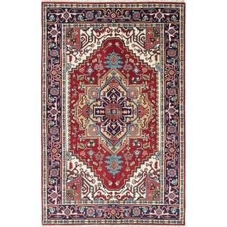 ecarpetgallery Serapi Heritage Blue, Red Wool Rug (5'1 x 7'10)