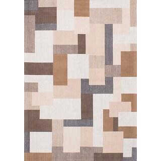 ecarpetgallery Enchanted Ivory Viscose Rug (5'3 x 7'6)