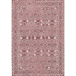 ecarpetgallery Enchanted Ivory Red Viscose Rug (5'3 x 7'8)