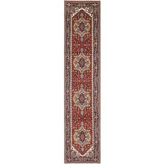 ecarpetgallery Serapi Heritage Red Wool Rug (2'7 x 12'1)