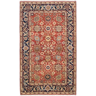 Hand-knotted Serapi Heritage Red Wool Rug - 4'8 x 7'9