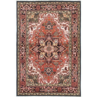 ecarpetgallery Royal Heriz Brown Wool Rug (6'0 x 8'11)