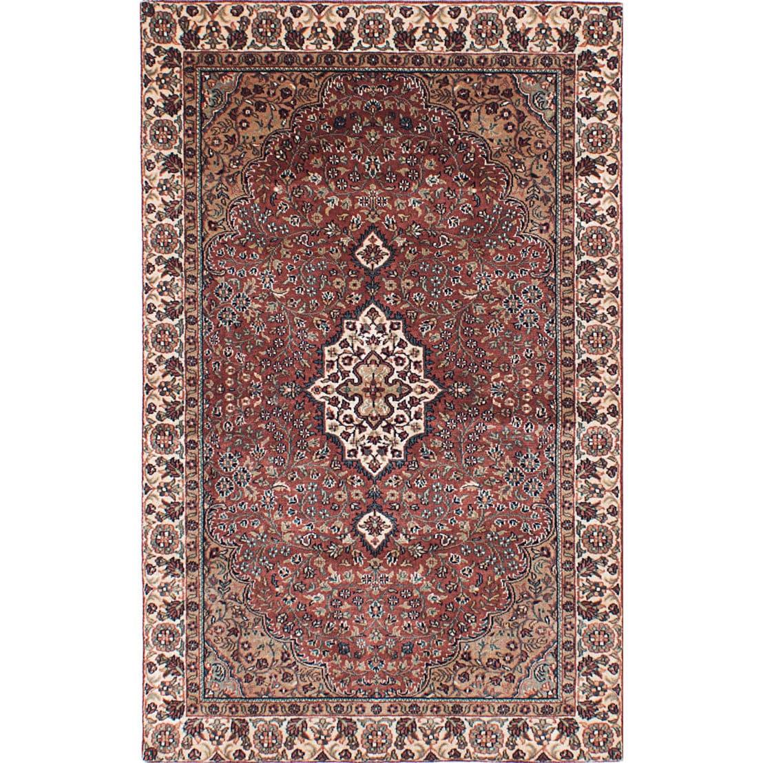 Ecarpetgallery Kashmir Brown Wool Rug (3'8 x 5'8) (Brown ...
